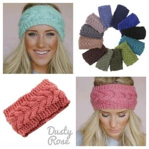 Accessories - Dusty Rose/Pink Knitted Headband